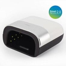 SUNUV 48 W SUN3 2,0 Smart secador de uñas Sensor de rayos UV lámpara LED con temporizador de memoria Invisible temporizador Digital de la pantalla de la máquina de secado