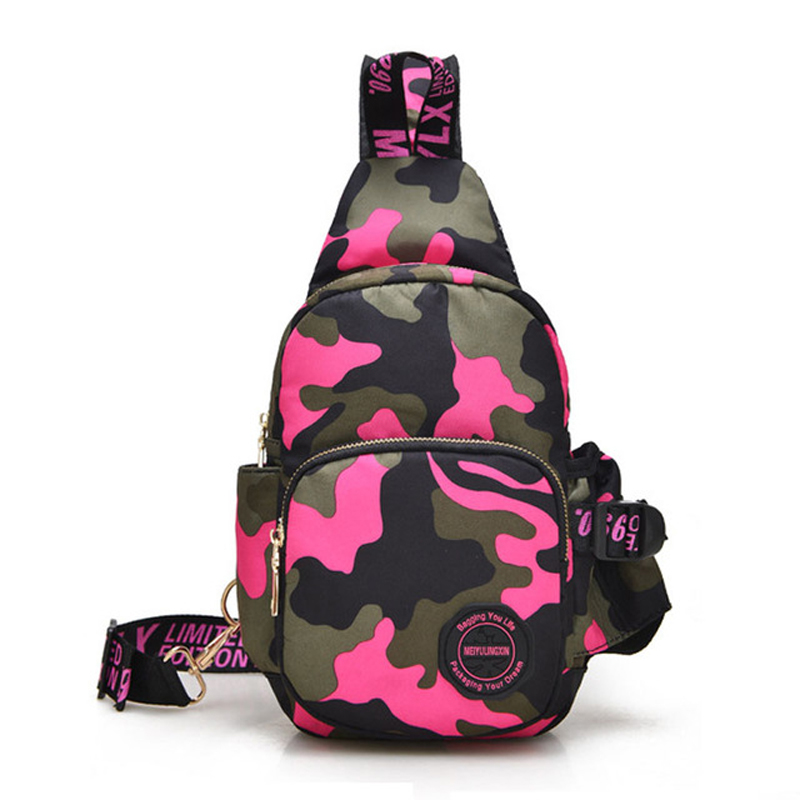 Military Chest Bags 2017 New Nylon Camouflage Cross Body Bags Men Waterproof Shoulder Bags Small Crossbody Bags for Women