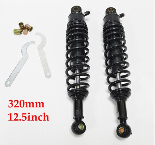 New Arrival 12 5 320mm Universal Black Motorcycle Air Shock Absorber Damper Rear Replacement Spring Replacement