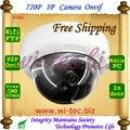 Plastice Incorporado wifi HD 720 P Domo a prueba de vandalismo del CCTV de Interior cámara onvif cámara ip inalámbrica de alarma motion detectar p2p móvil vista