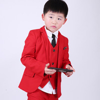 3pcs Children Formal Suits Sets Flower Boys Wedding Party Clothing Sets Kids Blazer Vest Pants Outfits Boy Prince Tuxedo Clothes