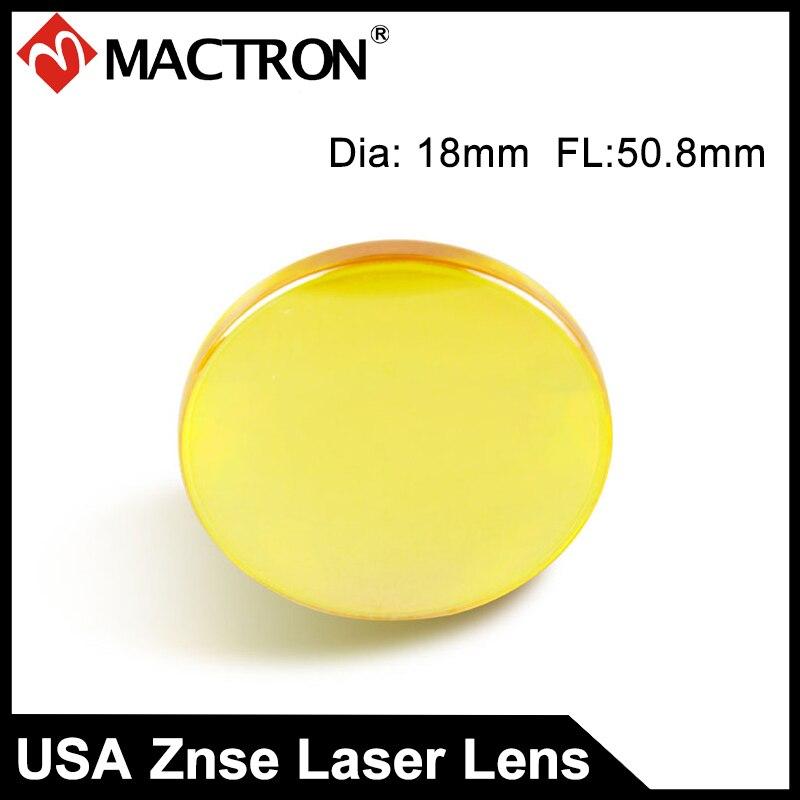 High USA ZnSe Laser Cutting Machine Focus Lens Dia 18mm ,50.8mm focal length co2 Laser Znse Focus Lens