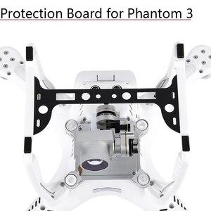 Image 1 - 1pc caméra plaque porte couvercle en Fiber de carbone panneau de Protection cardan garde protecteur pour DJI Phantom 3 pièces de rechange accessoires