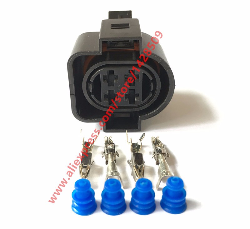 10 Sets PA66 4 Pin Female Auto Sealed Wire Harness Electronic Connector
