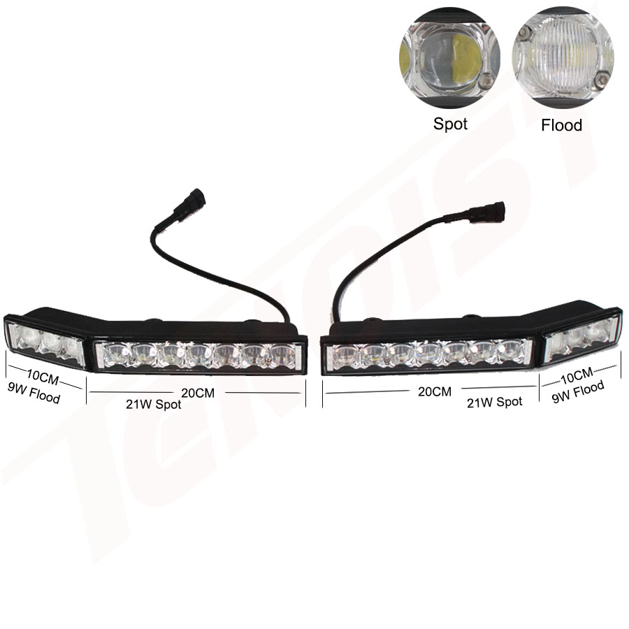 Image 3 - Universal 5D Lens LED Front Bumper License Plate Wide View Combo Light For Car SUV ATV Pickup 12/24V High Beam Headlight Bulbs-in Light Bar/Work Light from Automobiles & Motorcycles