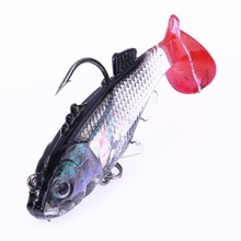 1 pc 55mm/8g Simulation Lead Fishing Lure Lifelike Soft Bait Artificial Fishing Lure with Treble Hook and Single Hook Carp Fish