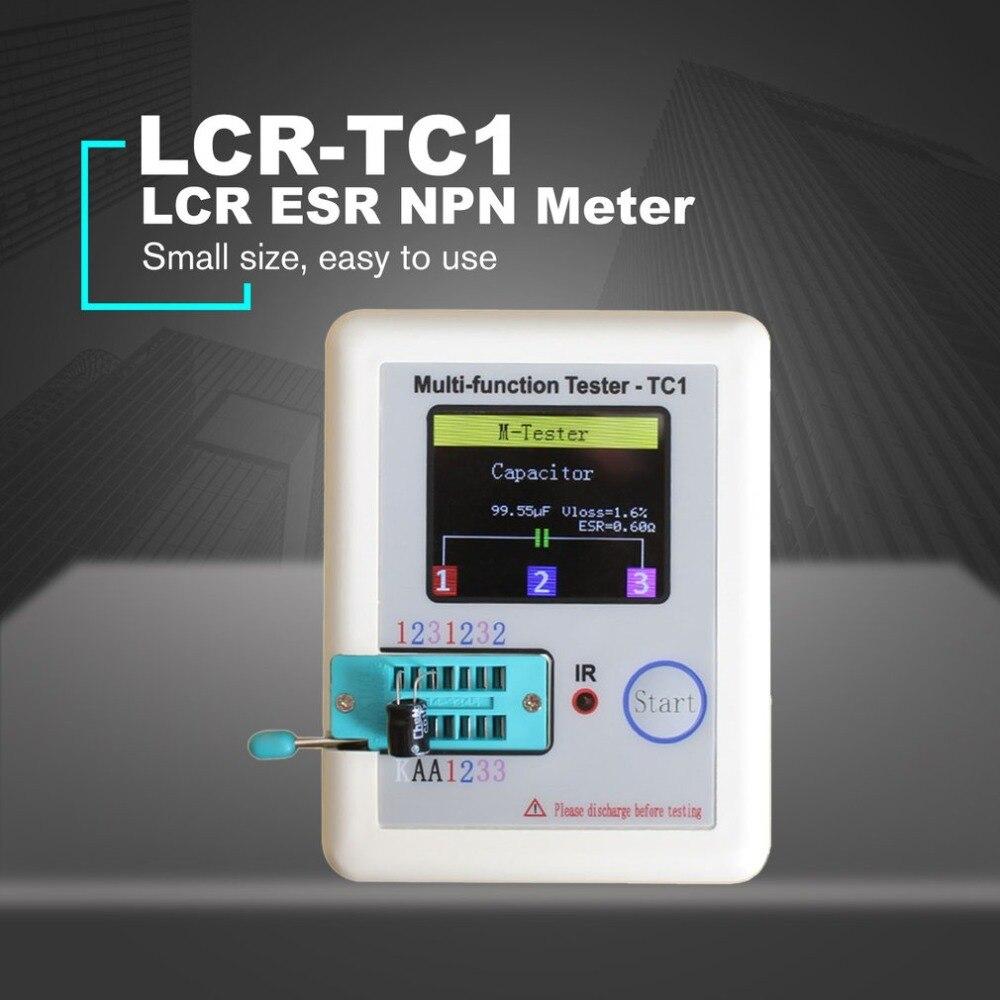 LCR-TC1 3.5 pouces affichage coloré multifonctionnel TFT rétro-éclairage Transistor testeur Diode Triode capacité mètre