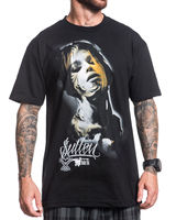 Sullen Clothing Grace Black Tattoo Goth Bullet 2018 New Pure Cotton Short Sleeves Hip Hop Fashion Mens T Shirt