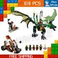 618 шт. 2016 Бела 10526 Ниндзя Зеленый NRG Дракон Gits Детей Игрушки Совместимость С Lego Строительные Блоки Кирпичи