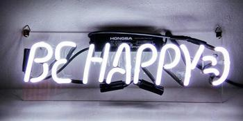Be Happy  Neon Light Sign Beer Bar