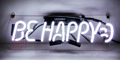 Be Happy  Neon Light Sign Beer Bar