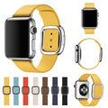 Sete cores de couro assista strap m tamanho pulseira de couro para a apple watch awmsls