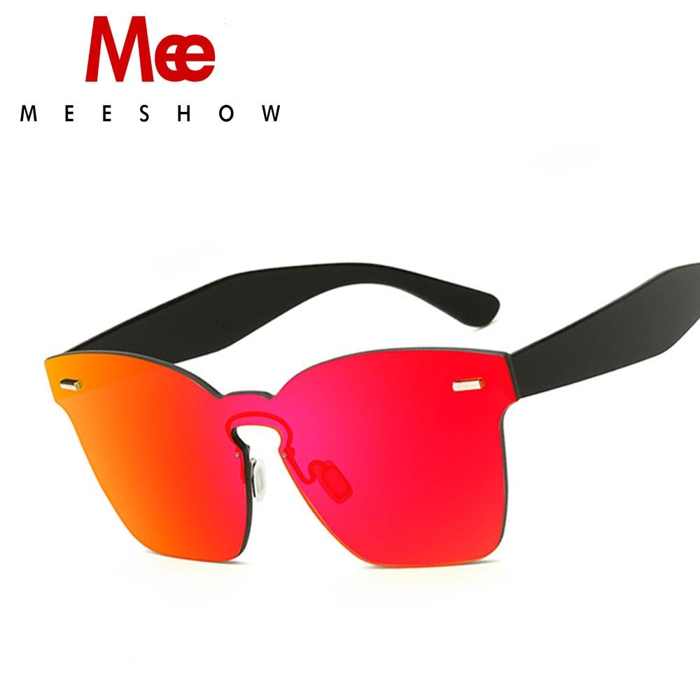 MEE Brand Vintage Style Sunglasses Men Women Flat Lens Rimless Square Frame Women Sun Glasses Oculos Gafas S7015