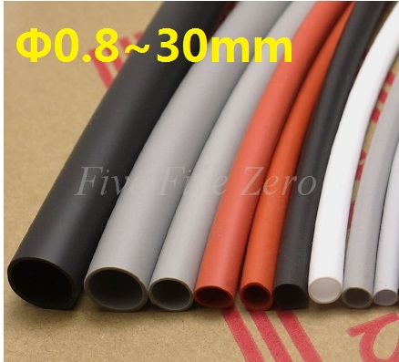 30mm Flexible Soft 1.7:1 Silicone Heat Shrink Tubing Silicone Rubber Brand New High Quality - 1 Meter retardant heat shrink tubing shrinkable tube diameter cables 120 roll sale