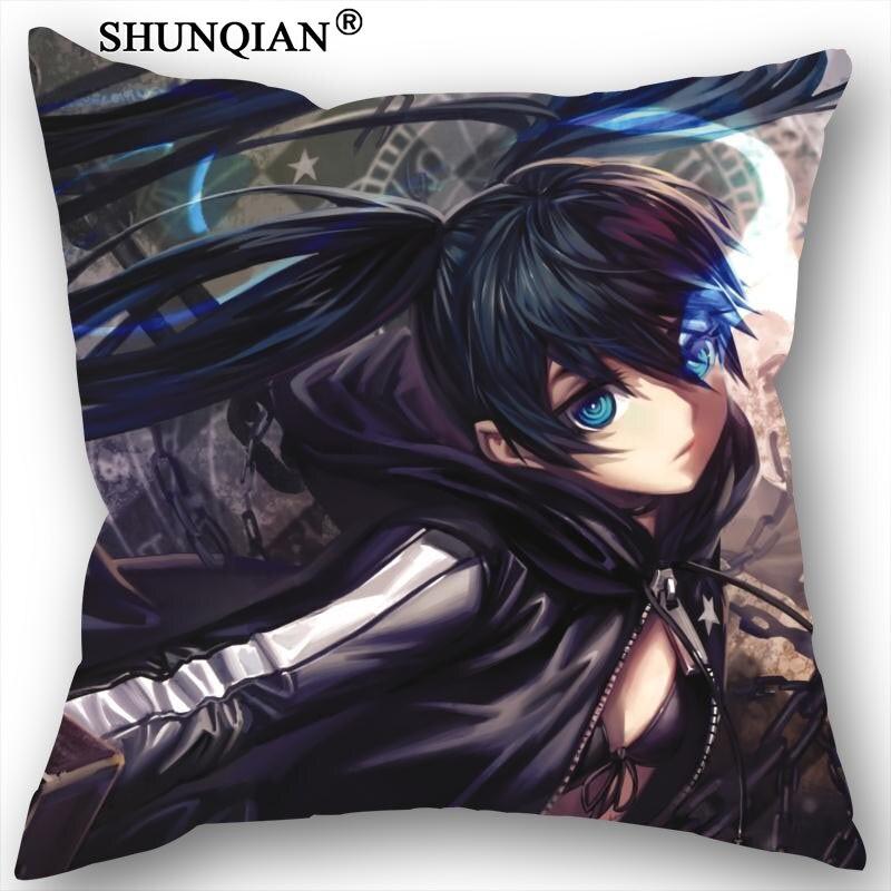 New Nice BLACK ROCK SHOOTER Anime Pillowcase Wedding Decorative Pillow Case Customize Gift For Pillow Cover 18-3-15 2