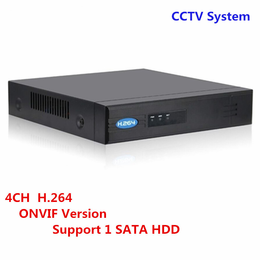 Full HD CCTV Onvif Security NVR POE 4CH Network Video Recorder H.264 HDMI VGA Support 1 SATA HDD P2P Surveillance System support onvif 9ch 1 5u nvr 1080p hd with vga