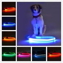 Pet dog LED leahses ведет подтяжку ремня для тяги для собак для собак длиной 120 см и батареей USB B01