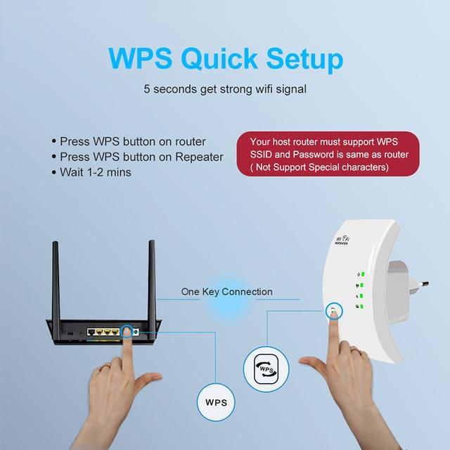 Répéteur WiFi sans fil 300Mbps amplificateur WiFi amplificateur WiFi longue portée de Signal Wi-Fi répéteur Wi-Fi 802.11N point d'accès 2