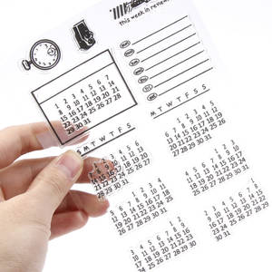 1PC Calender Transparent Silicone Clear Rubber Stamp Sheet Cling Scrapbooking DIY transparent stamp Stencil Embossing Paper Card