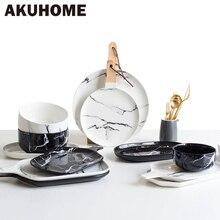 Europäischen Marmor Geschirr Keramik-geschirr Gericht Gesicht Platte Platte Bogen Cutter Bord