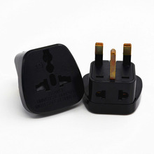 3Pcs Universal EU US AU to UK AC Power Plug Travel Converter Adapte With 2 Output Hole And 3 For