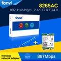 Fenvi new dual band portátil wlan rede wi-fi para intel AC-8265 8265NGW 802.11ac NGFF 867 Mbps sem fio WIFI + Bluetooth 4.2 cartão