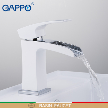 GAPPO basin faucet water tap Deck Mounted sink faucets mixer Taps basin faucet mixer waterfall faucet sink tap torneira gappo white basin faucet bathroom faucet mixer sink faucets chrome brass water faucets bath basin mixer tap water torneira