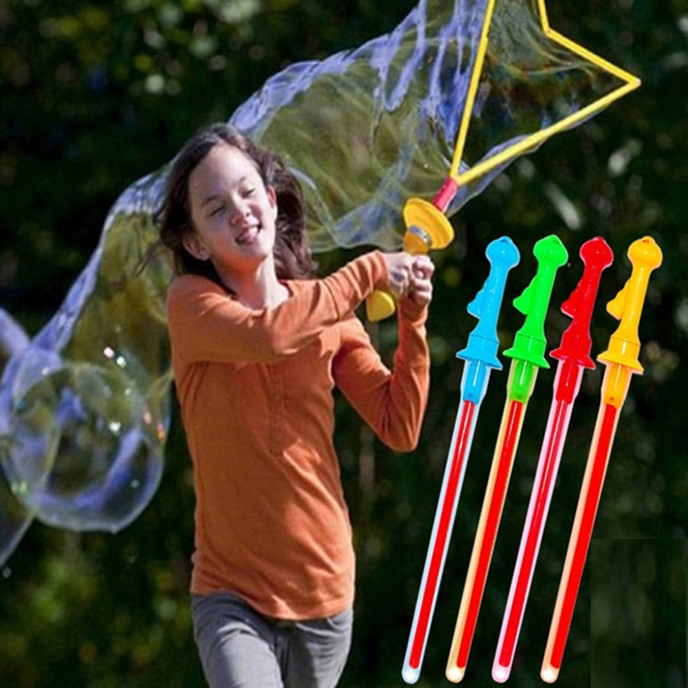 Large Bubble Western Sword Shape Bubble Sticks Kids Soap Bubble Toy Outdoor Toy