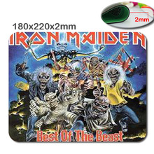 New Arrival Top Selling Iron Maiden The Trooper Non-Slip Laptop Computer PC Gaming Rubber Mouse Pad Me Pad Mat for Optal Mouse