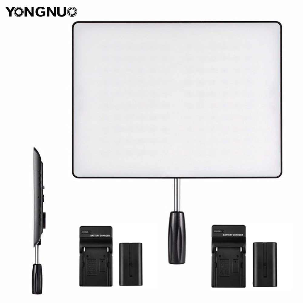YONGNUO <font><b>YN600</b></font> <font><b>Air</b></font> 5500K & 3200K-5500K LED Camera Video Light Photography Studio Lighting +2x Charger +2X NP-F550 Battery image