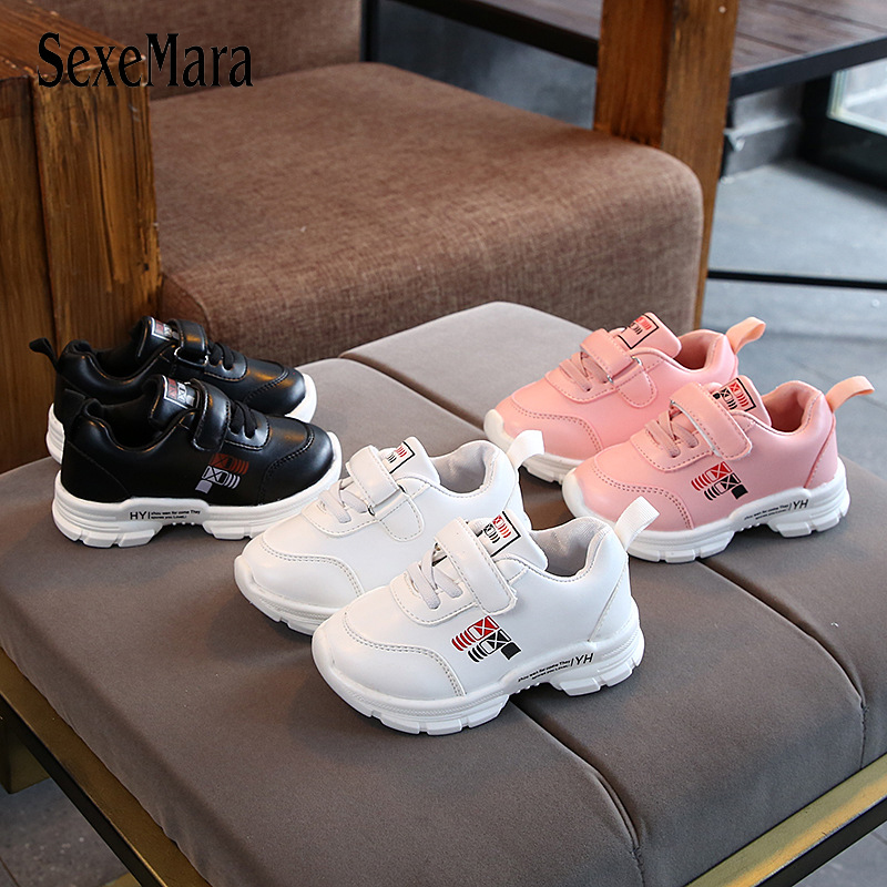 New Kids Shoes For Girls Fashion Children Casual Shoes Toddler Kids Sneakers 2019 Breathable Baby Boy Sport Running Shoes C06301