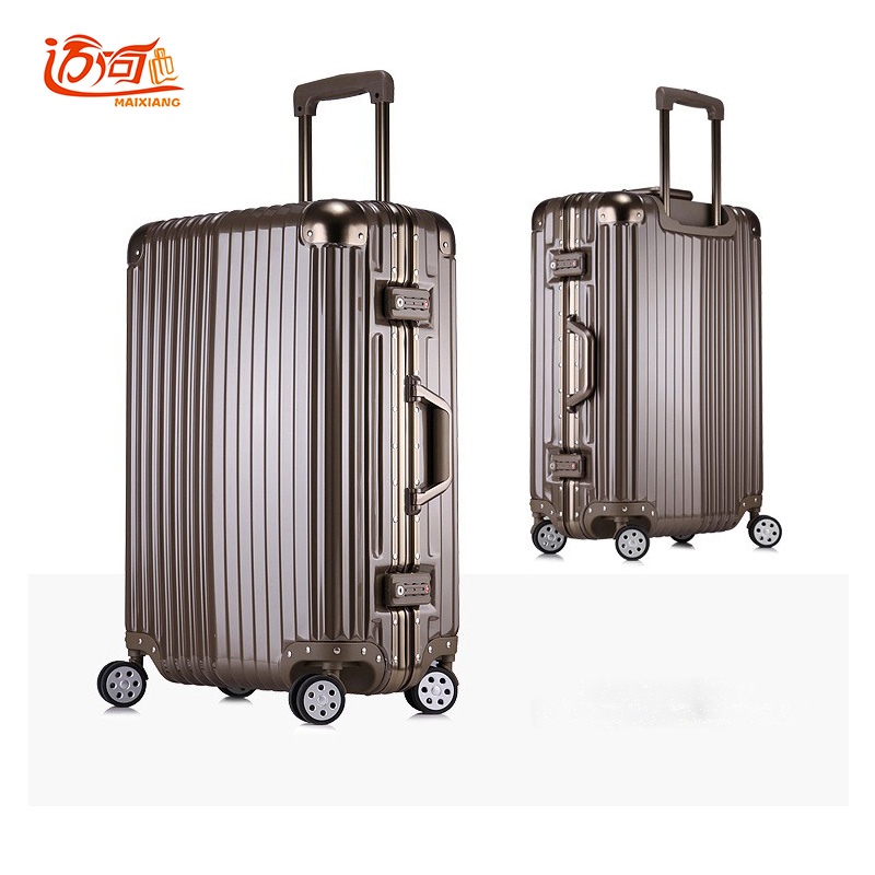 Aluminum frame+PC+ABS trolley travel luggage rolling luggage, 20242629inch suitcases and wheels vintage suitcase luggage vintage suitcase 20 26 pu leather travel suitcase scratch resistant rolling luggage bags suitcase with tsa lock