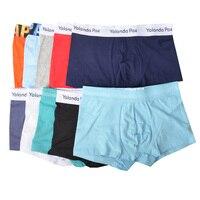 Yolanda Paz 10 piece A lot Mens Underwear Boxers Soft Cotton Man Underpants Euro Size S M L XL Wholesale price