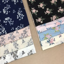 Rural style floral skirt shirt fabric Women's spring and summer dress fabric thin material is not soft printed cloth(China)