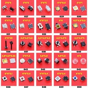 Image 3 - Cltgxdd 100 modele różne mikro przełączniki taktowe Reset Mini przełącznik liści SMD DIP 2*4 / 3*6/4*4*6*6*6