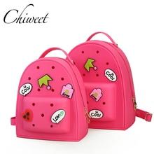 366ec63f1 Mujeres jelly graffiti mochilas diseñador Niñas bolso rosado Bolsas de  viaje niños KiD bookbag pequeño caramelo