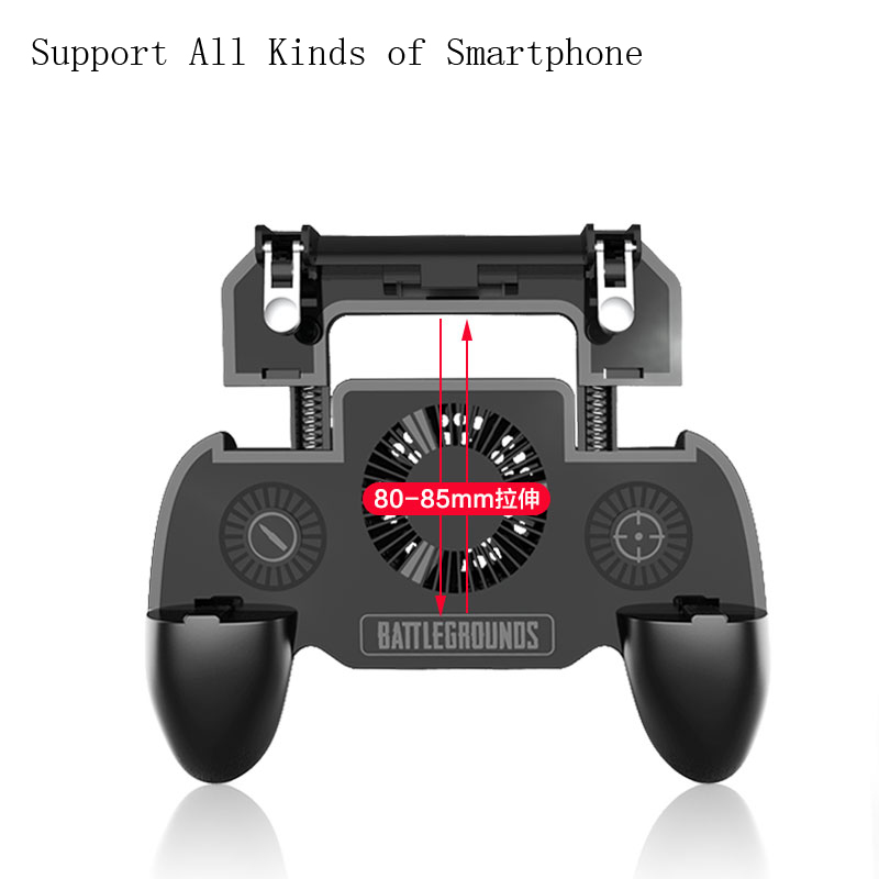 Image 2 - Pubg Controller Gamepad Pubg Mobile Trigger L1R1 Shooter Joystick Game Pad Phone Holder Cooler Fan with 2000/4000mAh Power Bank-in Gamepads from Consumer Electronics
