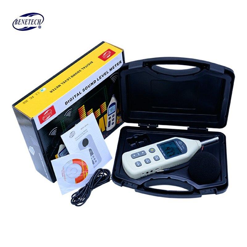 BENETECH цифровой измеритель уровня звука USB Шум метр тестер GM1356 30-130dB A/C быстрая/медленный дБ + программное обеспечение с коробкой