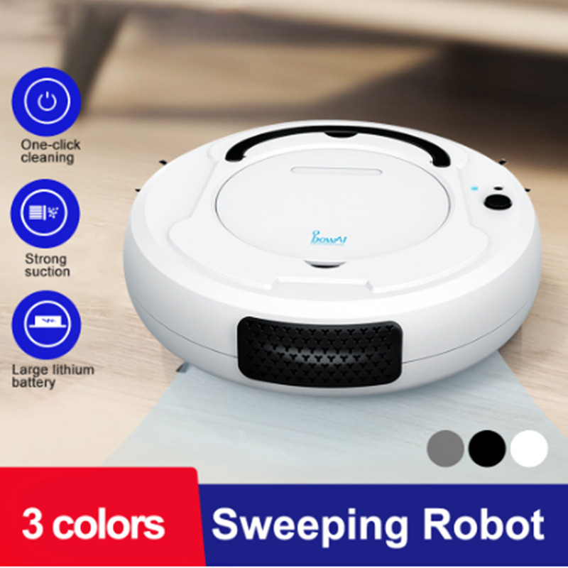 1800Pa Robot de barrido inteligente carga USB tres modos de limpieza perezoso personas herramientas de limpieza barredora inteligente bajo ruido