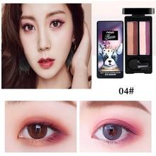 NOVO brand new dual gradient color eye shadow palette waterproof long lasting pi