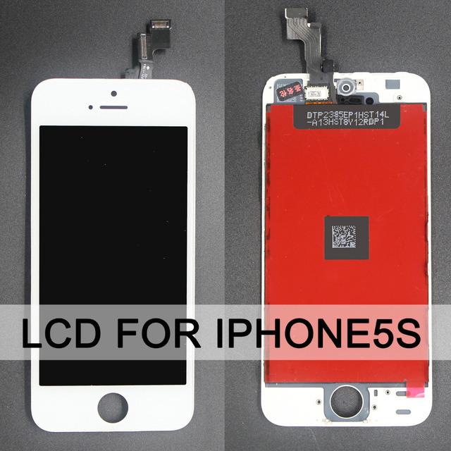 Aaa qualidade nenhum pixel morto substituição para iphone 5s screen display lcd completo com tela de toque digitador assembléia
