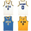 VTURE Мужские Рассел Уэстбрук #0 UCLA Брюинз Синий Прошитой Баскетбол Джерси