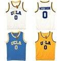 VTURE Mens Russell Westbrook #0 UCLA Bruins Azul Costurado Basketball Jersey