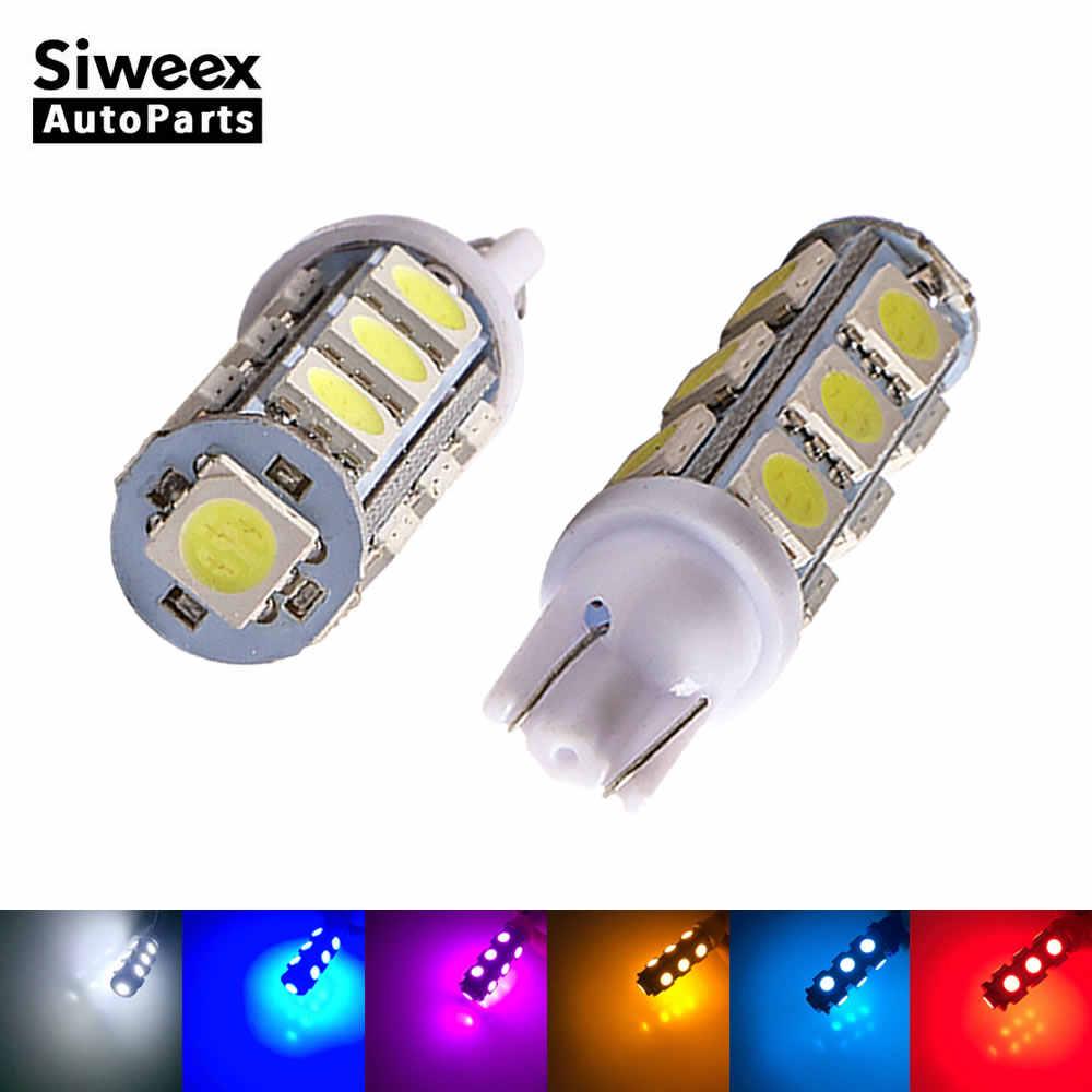 2 ピース/ロット T10 13 SMD 5050 車の Led サイドターン信号ライト Dc 12 V 194 168 W5W ウェッジ電球インテリアランプ 360 度 6 色