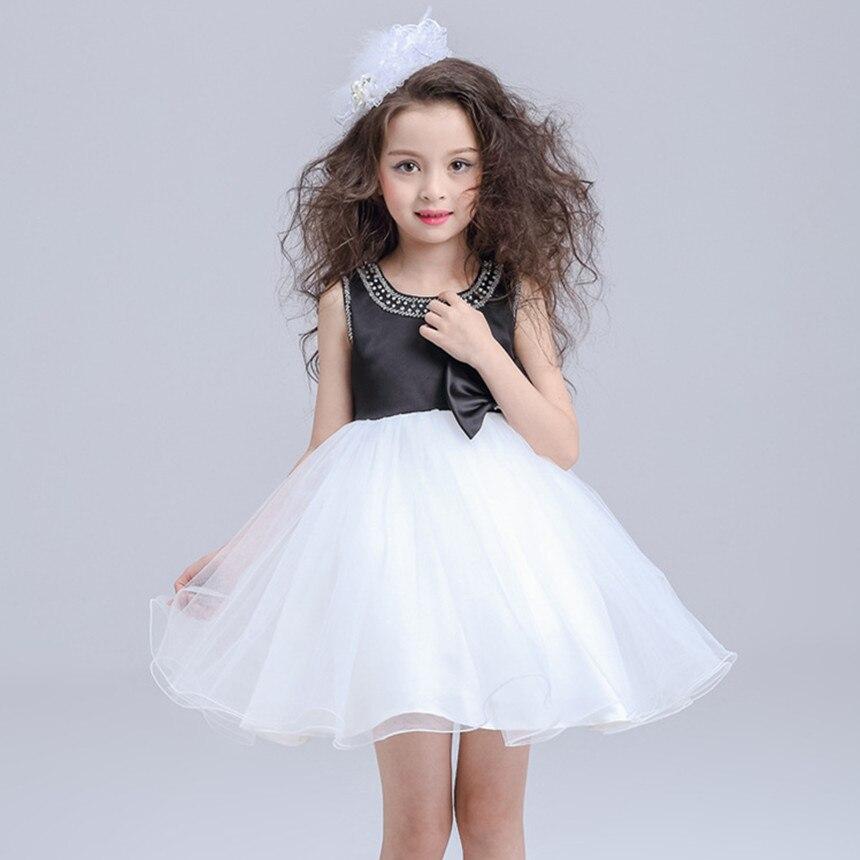 high end formal dresses for girl wedding black white