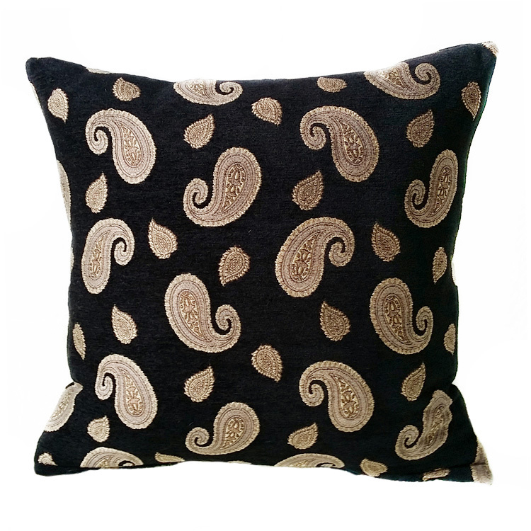 Aliexpress.com : Buy Larisa Home Luxurious Chenille Small Black Paisley Decorative Cushion Cover ...