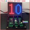 P10 из светодиодов модуль rgb санан чип + sunmoon ic + 6500 nits яркость + собрать из светодиодов на открытом воздухе тв hd дисплей полный цвет P10 модуль