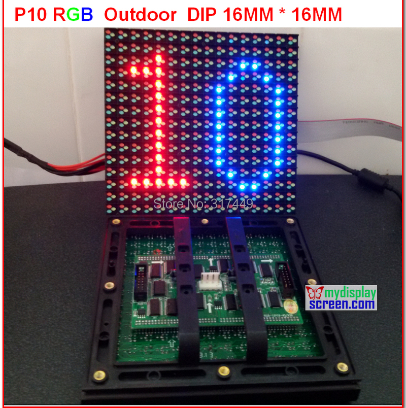 P10 led module rgb  Sanan chip + sunmoon ic + 6500 nits brightness + assemble led outdoor tv  hd display full color p10 module