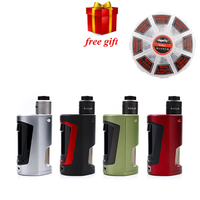 Free gift original Geekvape GBOX Squonker kit newest Squonker BF E cigarette batteries with Radar RDA 8ml Squonk bottle