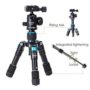 Image 2 - Bexin mini tripé portátil m225s, mini tripé para celular, temporizador ao vivo, câmera para fotografia, slr, tablet, mini bola de cabeça tripé com tripé